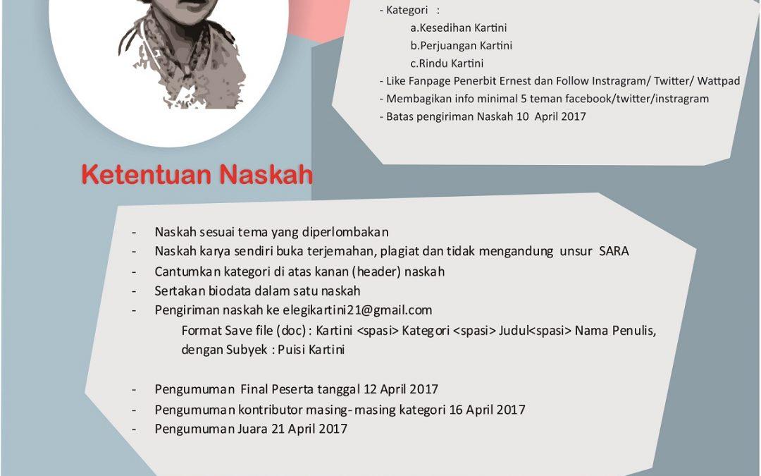 """Lomba Menulis Cipta Karya Puisi Bertema """"Elegi Syair untuk Kartini"""""""