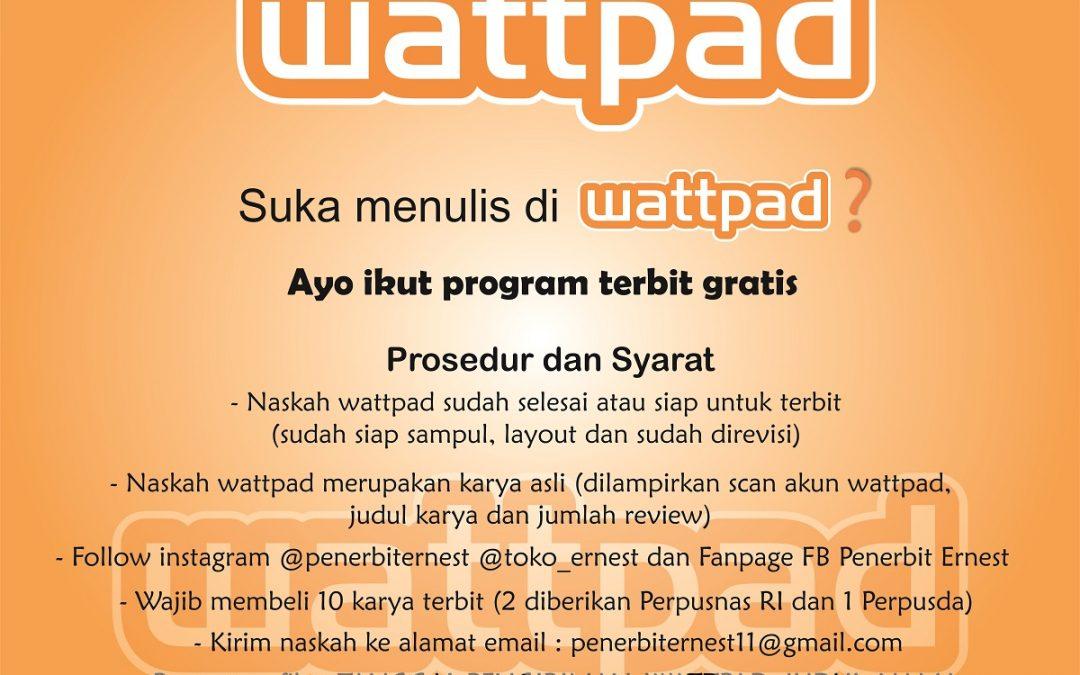 Program Terbit Karya Wattpad